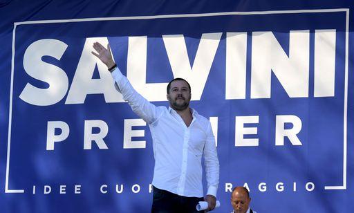 Matteo Salvini, durante la cerimonia della Pedemontana Veneta  ridurre il carico fiscale