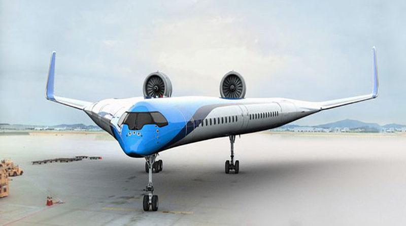 Arriva l'aereo triangolare, con i passeggeri seduti nelle ali