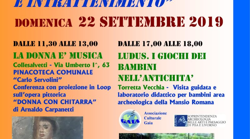 COMUNE COLLESALVETTI - 21 e 22 settembre Giornate Europee del Patrimonio
