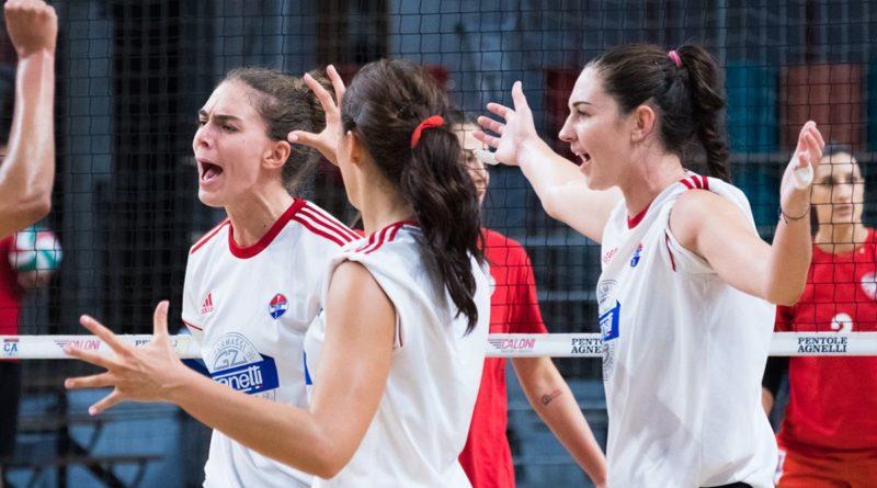 Volley Bergamo la presentazione di Prandi, Melandri e Mitchem