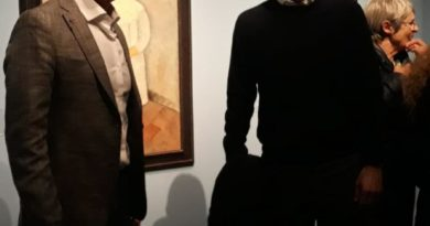 Massimiliano Allegri alla mostra di Modigliani